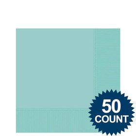Robins Egg Blue Beverage Napkins (50 Pack)