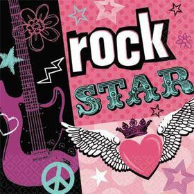 Rock Star Girl Beverage Napkins (16-pack)
