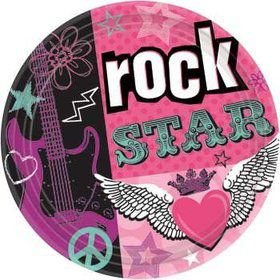 Rock Star Girl Cake Plates (8-pack)