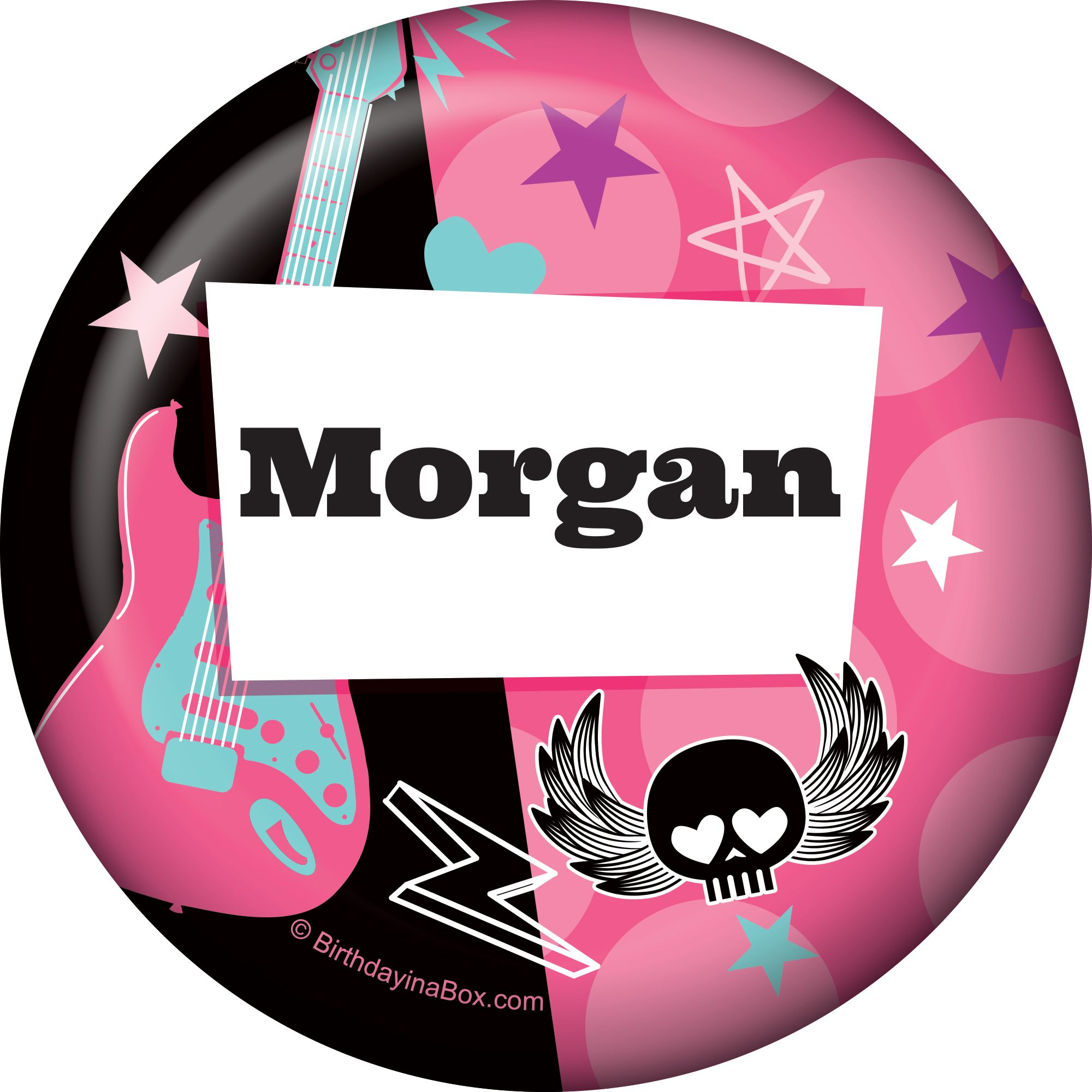 Rock Star Girl Personalized Button (each) - Party Supplies BB1004BT