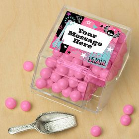 Rock Star Girl Personalized Candy Bin with Candy Scoop (10 Count)