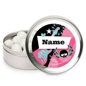 Rock Star Girl Personalized Candy Tins (12 Pack)