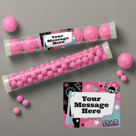 Rock Star Girl Personalized Candy Tubes (12 Count)