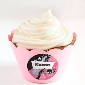 Rock Star Girl Personalized Cupcake Wrappers (Set of 24)