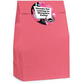 Rock Star Girl Personalized Favor Bag (Set Of 12)