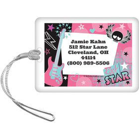 Rock Star Girl Personalized Luggage Tag (each)