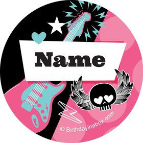 Rock Star Girl Personalized Mini Stickers (Sheet of 20)