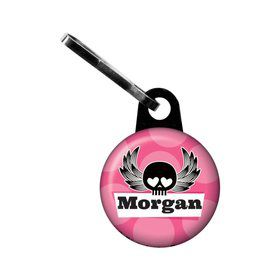 Rock Star Girl Personalized Mini Zipper Pull (each)