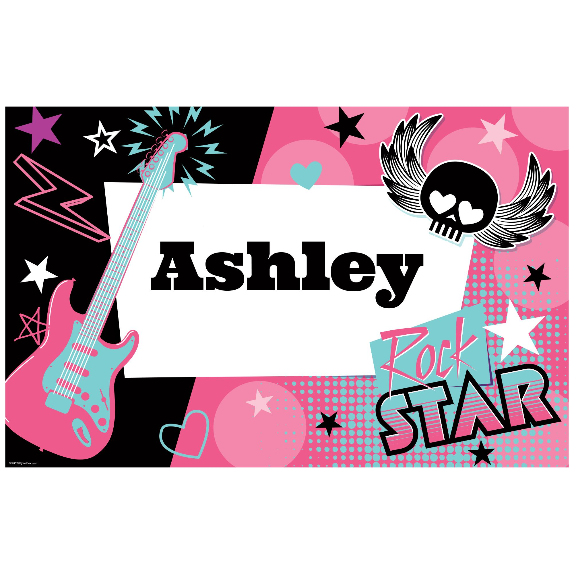 Rock Star Girl Personalized Placemat (Each) BB1004PM