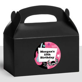 Rock Star Girl Personalized Treat Favor Boxes (12 Count)