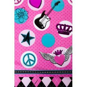 Rock Star Girl Table Cover (each)
