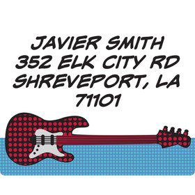 Rock Star Personalized Address Labels (Sheet of 15)