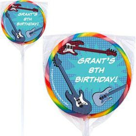 Rock Star Personalized Lollipops (pack of 12)
