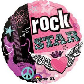 Rocker Girl Guitar Balloon (each)