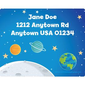 Rocket to Space Personalized Address Labels (Sheet of 15)