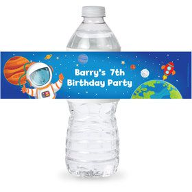 Rocket to Space Personalized Bottle Label (Sheet of 4)