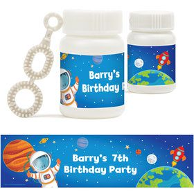 Rocket to Space Personalized Bubbles (18 Pack)