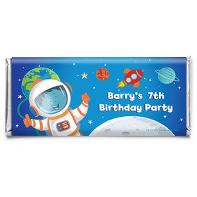 Rocket to Space Personalized Candy Bar Wrapper (Each)