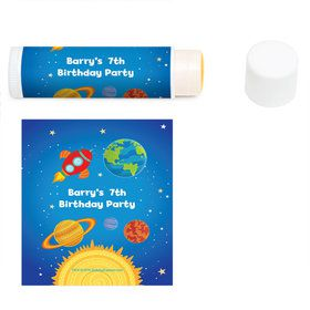 Rocket to Space Personalized Lip Balm (12 Pack)