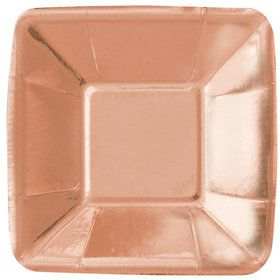 """Rose Gold 5"""" Square Appetizer Plate (8)"""