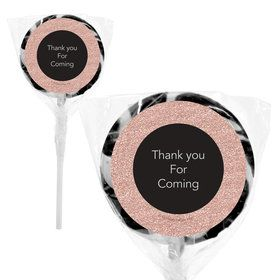 "Rose Gold Celebration Personalized 2"" Lollipops (20 Pack)"