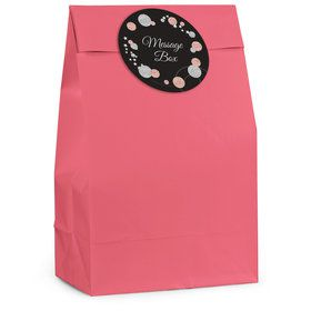Rose Gold Celebration Personalized Favor Bag (12 Pack)
