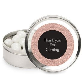 Rose Gold Celebration Personalized Mint Tins (12 Pack)