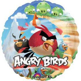 Round Angry Birds Balloon (each)