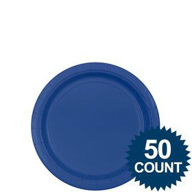 "Royal Blue 7"" Paper Plate, 50 ct."