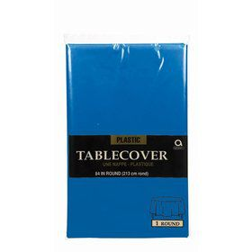 "Royal Blue 84"" Round Table Cover (Each)"