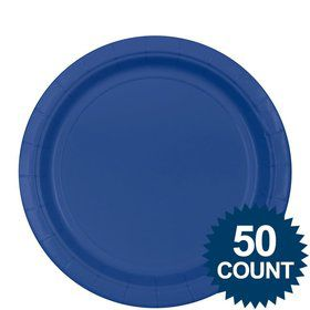 "Royal Blue 9"" Paper Plate, 50 ct."
