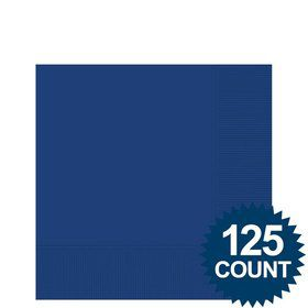 Royal Blue Beverage Napkins, 125 ct.
