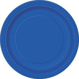 Royal Blue Cake Plates (20 Count)