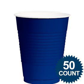 Royal Blue Plastic 12 oz. Cup, 50 ct.