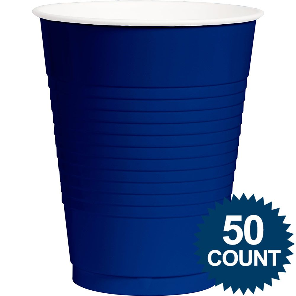 Royal Blue Plastic 16 oz. Cup, 50 ct. - Party Supplies BB100107