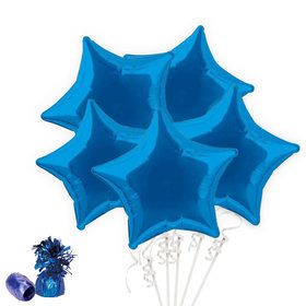 Royal Blue Star Balloon Bouquet Kit