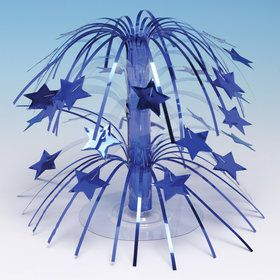 Royal Blue Star Cascade Centerpiece