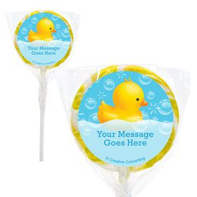 "Rubber Duck Personalized 2"" Lollipops (20 Pack)"