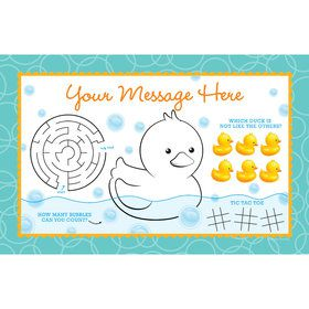 Rubber Duck Personalized Activity Mat (8 Count)