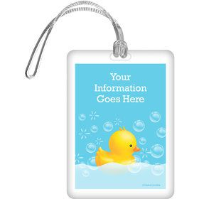 Rubber Duck Personalized Bag Tag (Each)