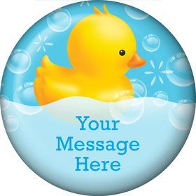 Rubber Duck Personalized Button (Each)