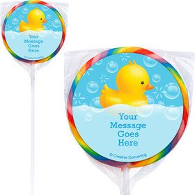 Rubber Duck Personalized Lollipops (12 Pack)