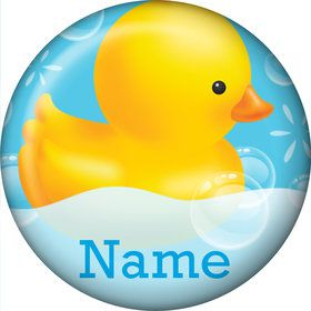 Rubber Duck Personalized Mini Button (Each)