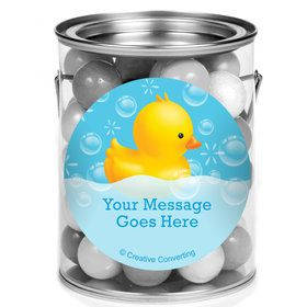 Rubber Duck Personalized Mini Paint Cans (12 Count)