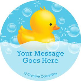 Rubber Duck Personalized Mini Stickers (Sheet of 20)