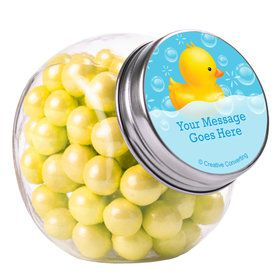 Rubber Duck Personalized Plain Glass Jars (12 Count)