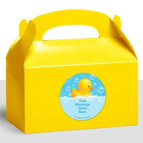 Rubber Duck Personalized Treat Favor Boxes (12 Count)