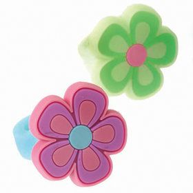 Rubber Flower Ring Asst. (12)