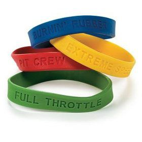 Rubber Race Car Wristbands (12 count)