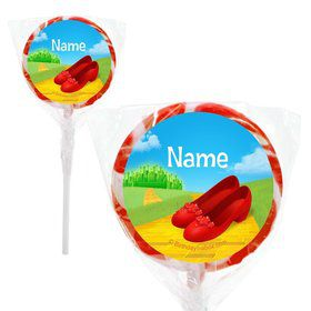 "Ruby Slippers Personalized 2"" Lollipops (20 Pack)"